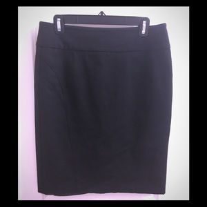 Tribal black pencil skirt, size 8